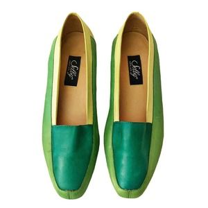 Vintage Selby Leather Color Block Loafers